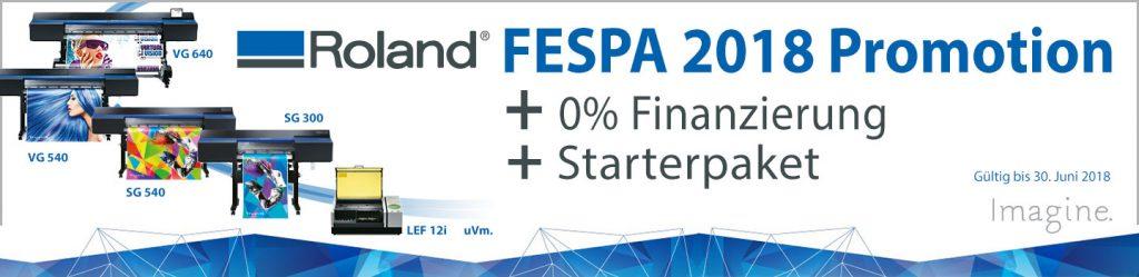 Roland FESPA 2018 Promotion