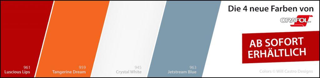 Die 4 neuen Farben bei Orafol