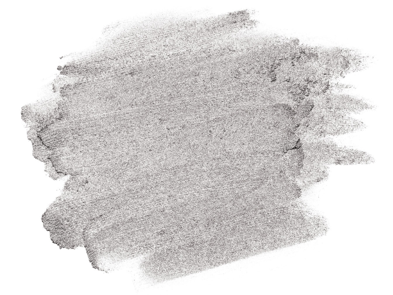 Festive shimmery gray brush stroke