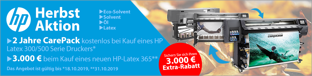 HP Latex Herbst Aktion