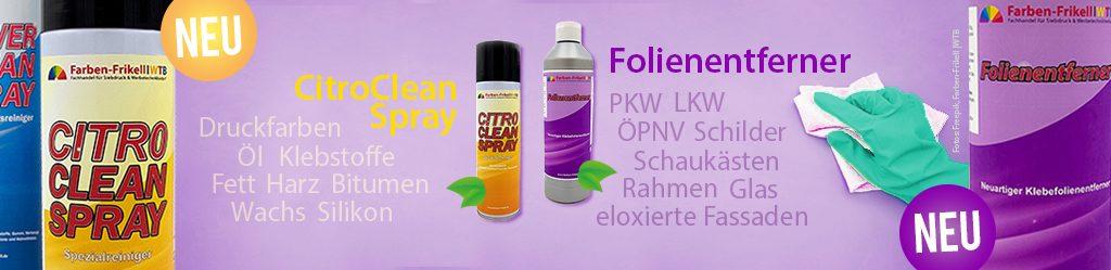 Neue Reiniger von Farben-Frikell & WTB
